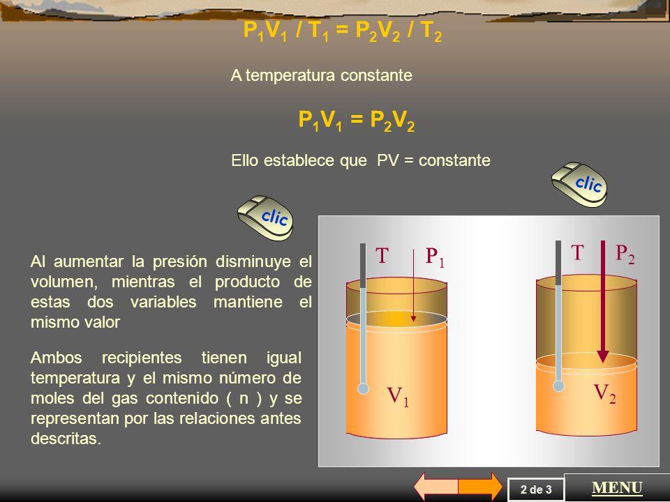 La ley general de los gases o de Boyle Mariotte establece que......................... la presión ( P ) y el volumen ( V ) de una mezcla gaseosa tiene