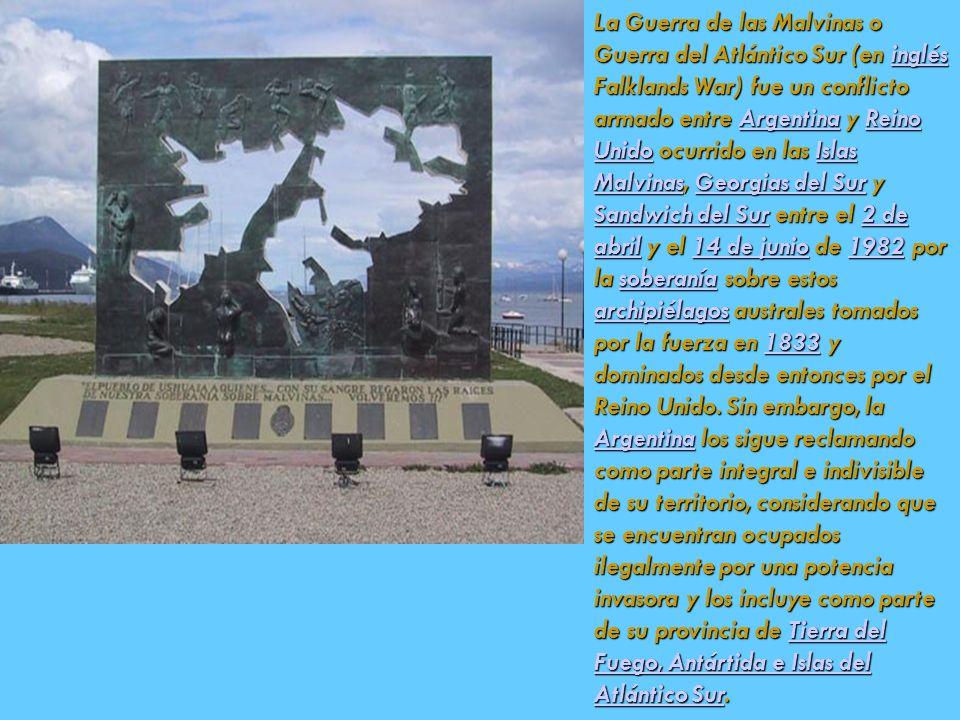 La Guerra de las Malvinas o Guerra del Atlántico Sur (en inglés Falklands War) fue un conflicto armado entre Argentina y Reino Unido ocurrido en las I