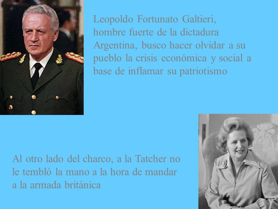 Leopoldo Fortunato Galtieri, hombre fuerte de la dictadura Argentina, busco hacer olvidar a su pueblo la crisis económica y social a base de inflamar