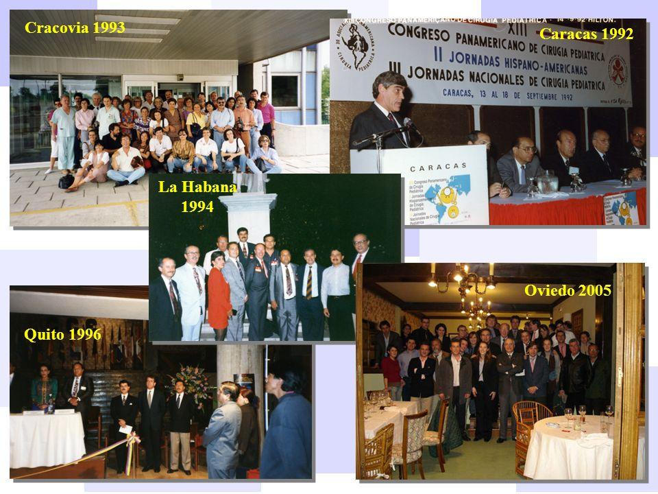 Cracovia 1993 Quito 1996 Caracas 1992 La Habana 1994 Oviedo 2005