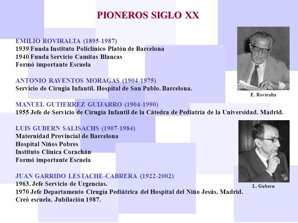 MANUEL MORENO DE ORBE (1922-2002) 1954 Jefe de la Unidad de Cirugía Pediátrica en el Hospital Clínico de Santiago de Compostela.