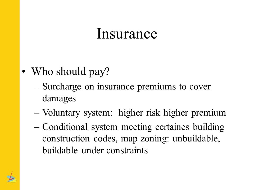 Insurance Who should pay.