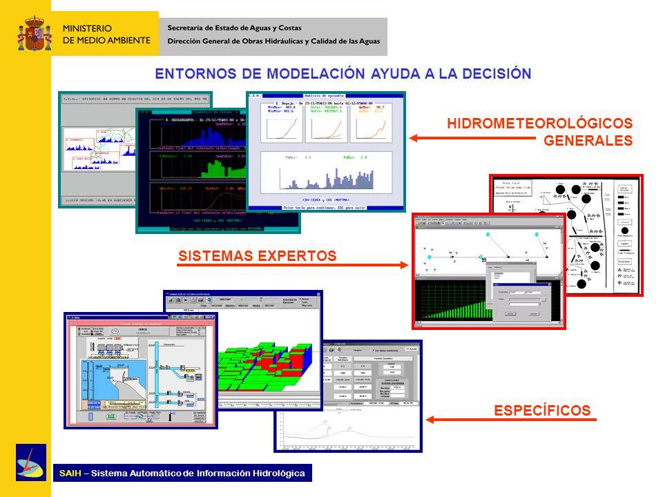 SAIH – Sistema Automático de Información Hidrológica ENTORNOS DE MODELACIÓN AYUDA A LA DECISIÓN HIDROMETEOROLÓGICOS GENERALES SISTEMAS EXPERTOS ESPECÍ