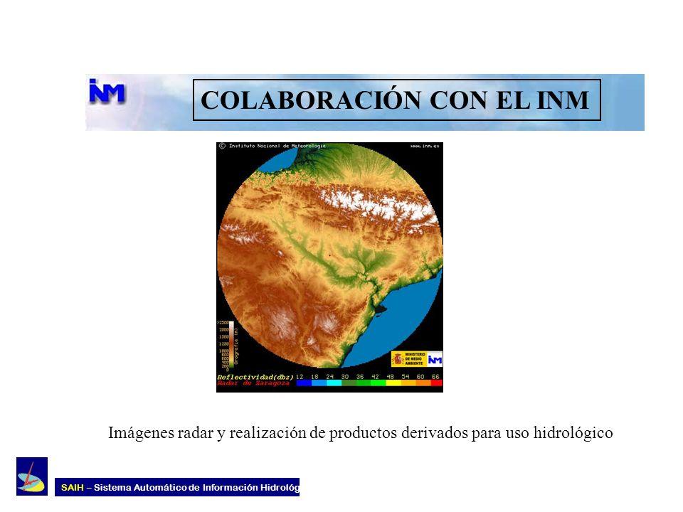 COLABORACIÓN CON EL INM Imágenes radar y realización de productos derivados para uso hidrológico SAIH – Sistema Automático de Información Hidrológica