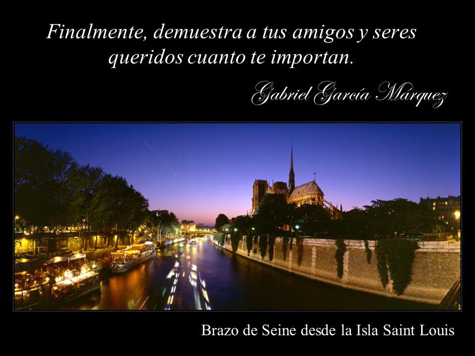 Notre Dame de París desde el Puente de Archevéché Nadie te recordará por tus nobles pensamientos secretos. Pide al Señor la fuerza y sabiduría para ex