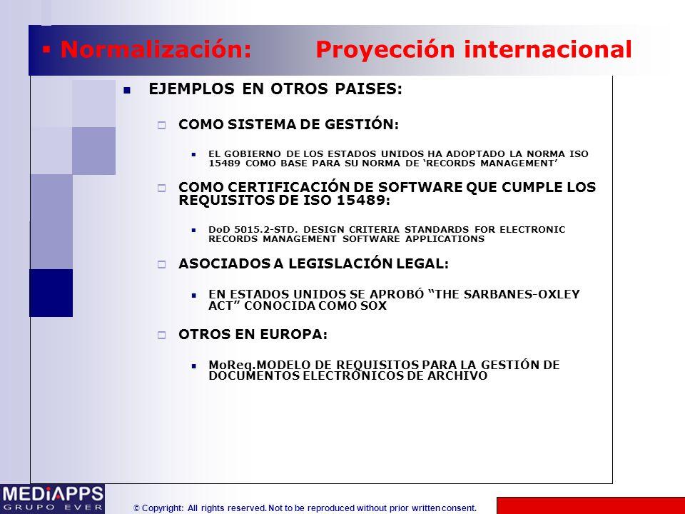 © Copyright: All rights reserved. Not to be reproduced without prior written consent. EJEMPLOS EN OTROS PAISES: COMO SISTEMA DE GESTIÓN: EL GOBIERNO D