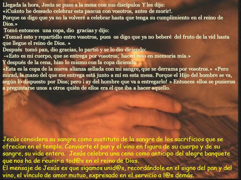 Lucas 22, 14 – 23, 56 – Domingo de Ramos de la Pasión de Jesús –C- / 28 marzo 2010.