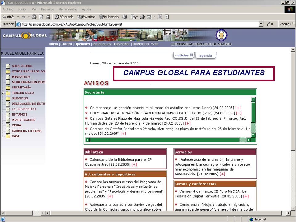 CAMPUS GLOBAL PARA ESTUDIANTES