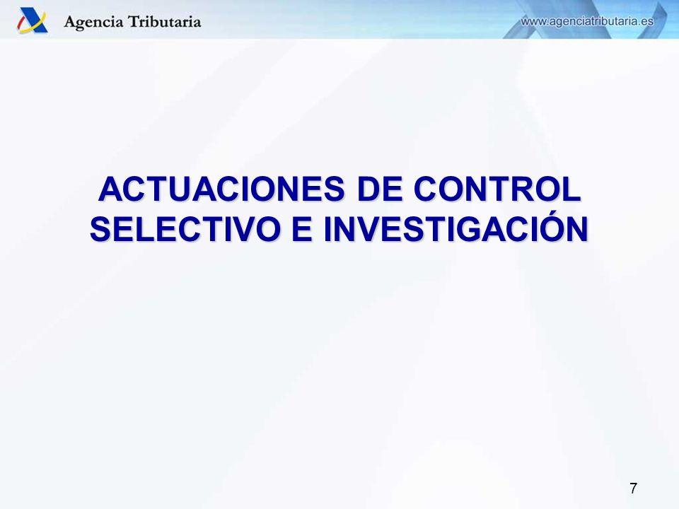 7 ACTUACIONES DE CONTROL SELECTIVO E INVESTIGACIÓN