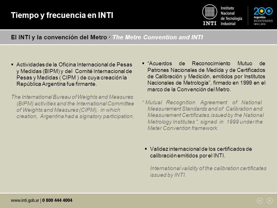 Actividades de la Oficina Internacional de Pesas y Medidas (BIPM) y del Comité Internacional de Pesas y Medidas ( CIPM ) de cuya creación la República Argentina fue firmante.