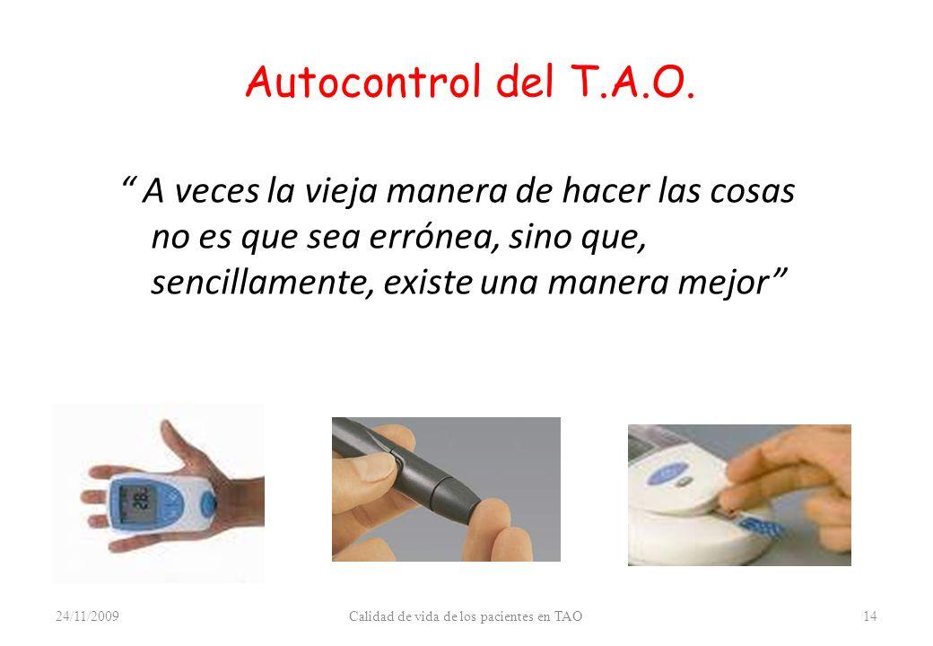Autocontrol del T.A.O.