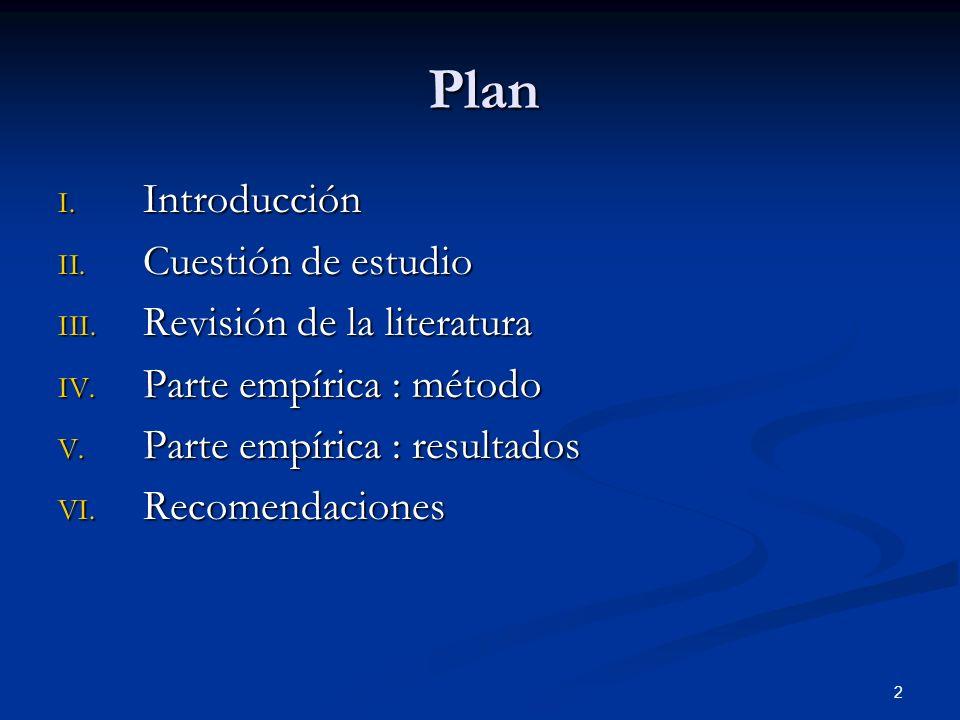 2 Plan I.Introducción II. Cuestión de estudio III.