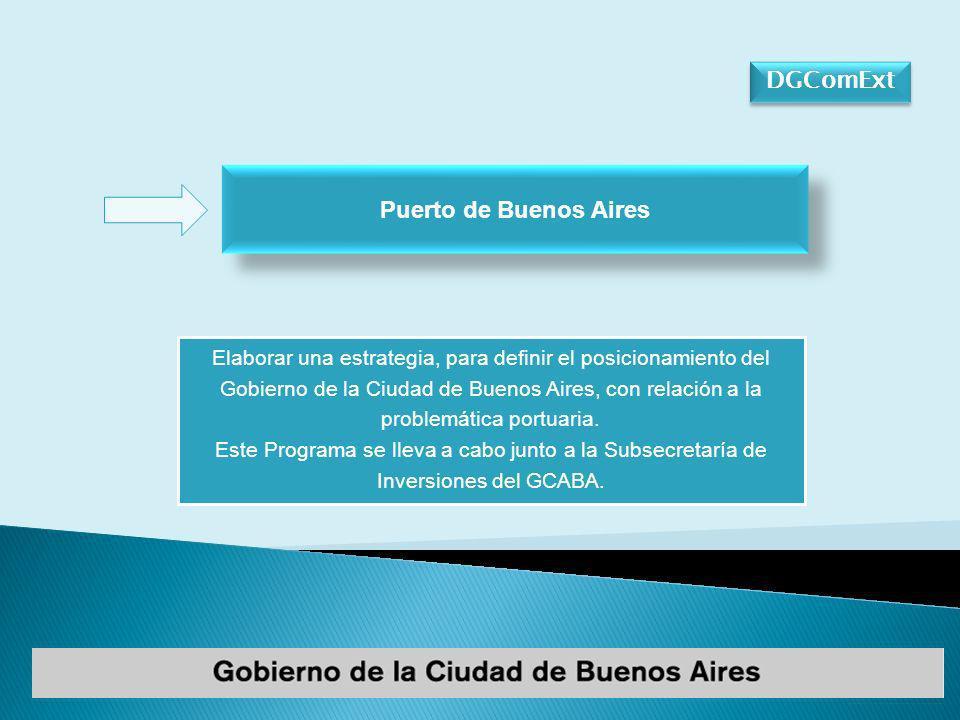DGComExt Puerto de Buenos Aires Elaborar una estrategia, para definir el posicionamiento del Gobierno de la Ciudad de Buenos Aires, con relación a la problemática portuaria.