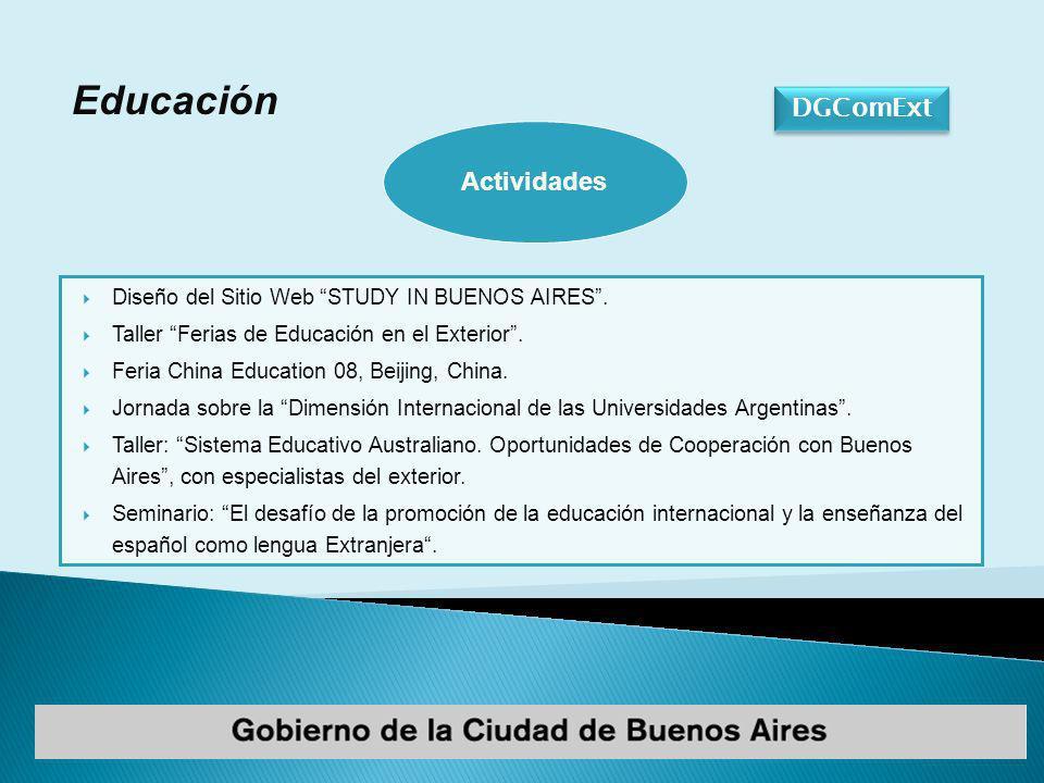 DGComExt Educación Diseño del Sitio Web STUDY IN BUENOS AIRES.