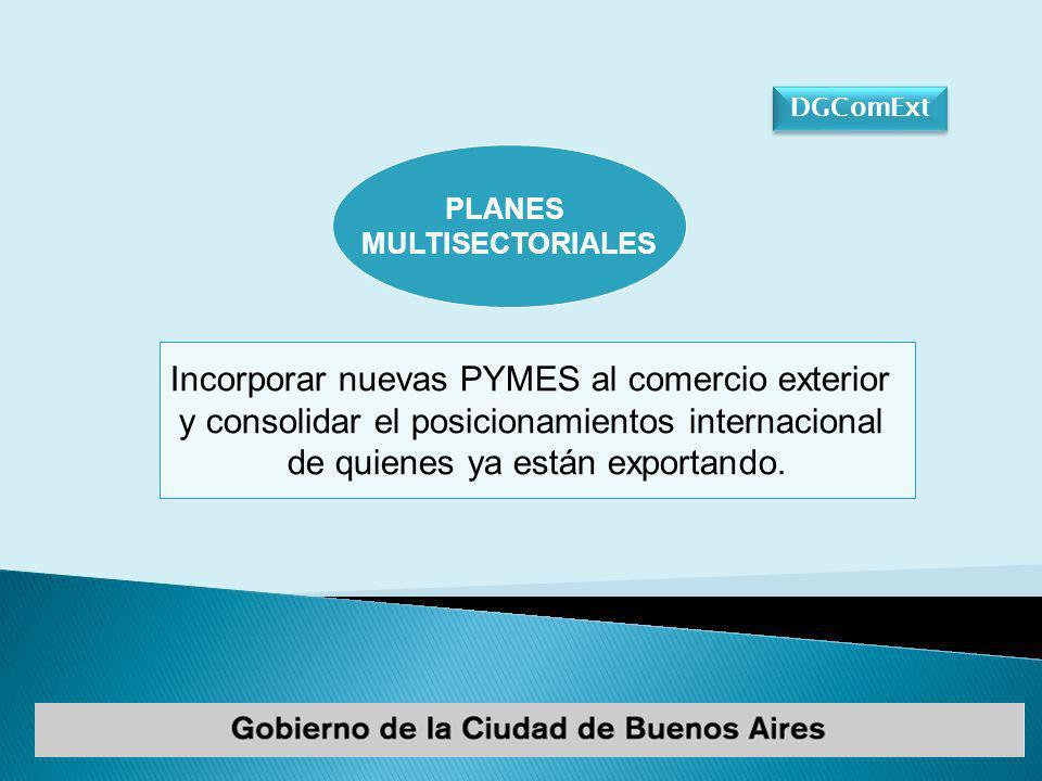 DGComExt PLANES MULTISECTORIALES ESTRATEGIA EXPORTADORA PARA LAS PYMES FORTALECIMIENTO DE GRUPOS EXPORTADORES