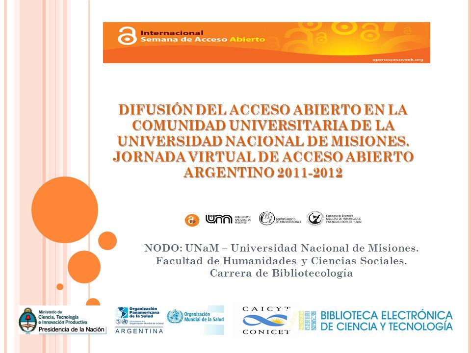 NODO: UNaM – Universidad Nacional de Misiones. Facultad de Humanidades y Ciencias Sociales.