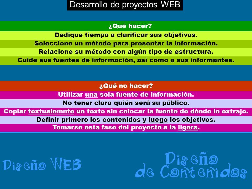 Seleccione un método para presentar la información. Relacione su método con algún tipo de estructura. Dedique tiempo a clarificar sus objetivos. Cuide