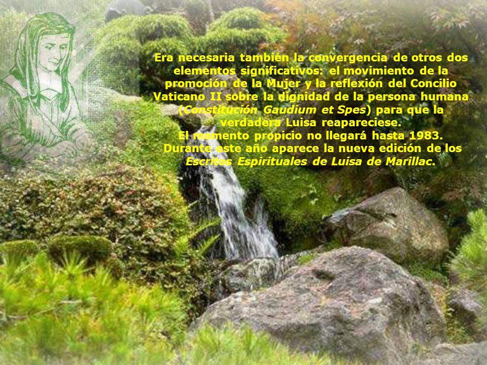 Si en 1983, Luisa de Marillac sale finalmente de la sombra, es porque el terreno se había preparado desde 1958 por la publicación de la biografía de J