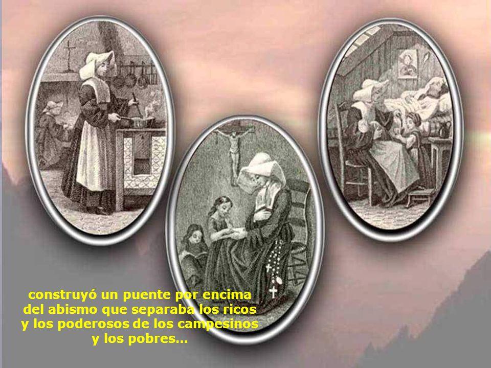 Ella ha visto enseguida la necesidad de reunir en comunidad esas jóvenes campesinas que ella formaba, a petición de Vicente de Paúl, para trabajar con