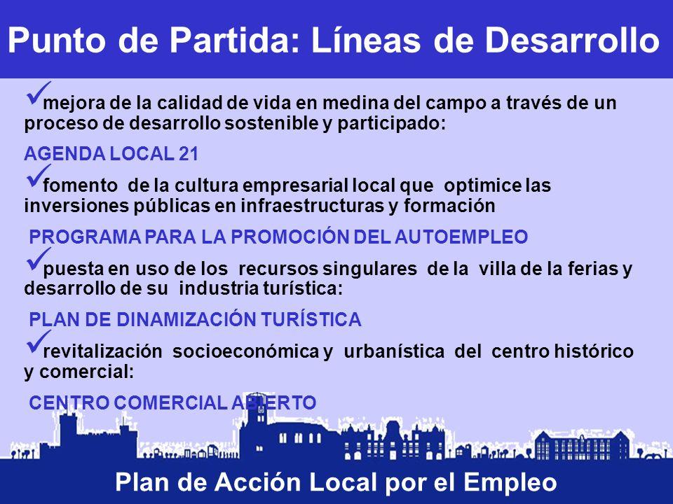 Plan de Acción Local por el Empleo Punto de Partida: Líneas de Desarrollo mejora de la calidad de vida en medina del campo a través de un proceso de d