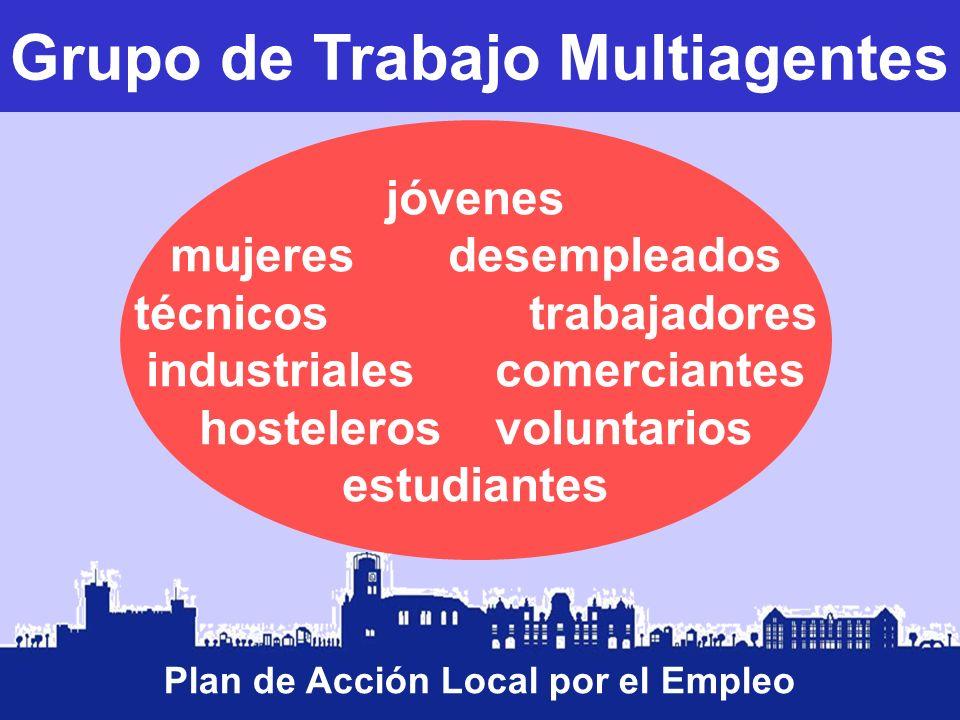 Grupo de Trabajo Multiagentes Plan de Acción Local por el Empleo jóvenes mujeres desempleados técnicos trabajadores industriales comerciantes hosteler