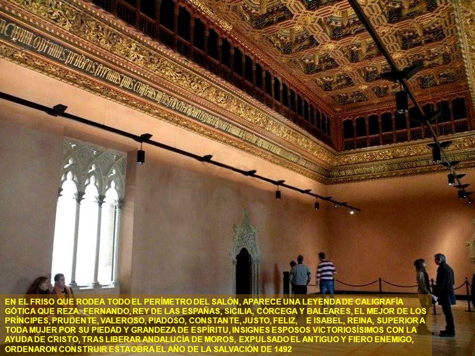 www.vitanoblepowerpoints.net EL IMPRESIONANTE SALÓN DEL TRONO, DE PLANTA RECTANGULAR Y DIMENSIONES CONSIDERABLES, EN EL QUE DESTACA EL SOBERBIO ARTESO