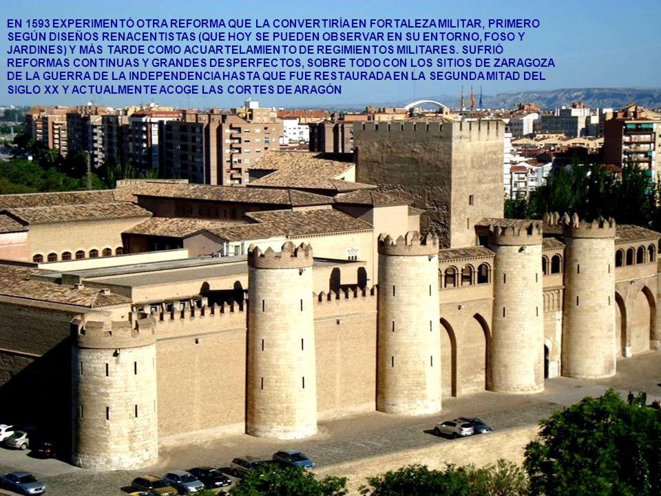www.vitanoblepowerpoints.net EN 1593 EXPERIMENTÓ OTRA REFORMA QUE LA CONVERTIRÍA EN FORTALEZA MILITAR, PRIMERO SEGÚN DISEÑOS RENACENTISTAS (QUE HOY SE PUEDEN OBSERVAR EN SU ENTORNO, FOSO Y JARDINES) Y MÁS TARDE COMO ACUARTELAMIENTO DE REGIMIENTOS MILITARES.