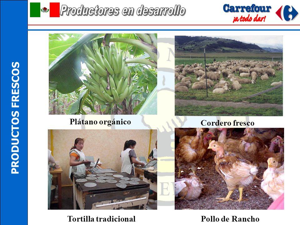 PRODUCTOS FRESCOS Quesos de leche fresca Limón sin semilla Jamón cocido Lácteos orgánicos