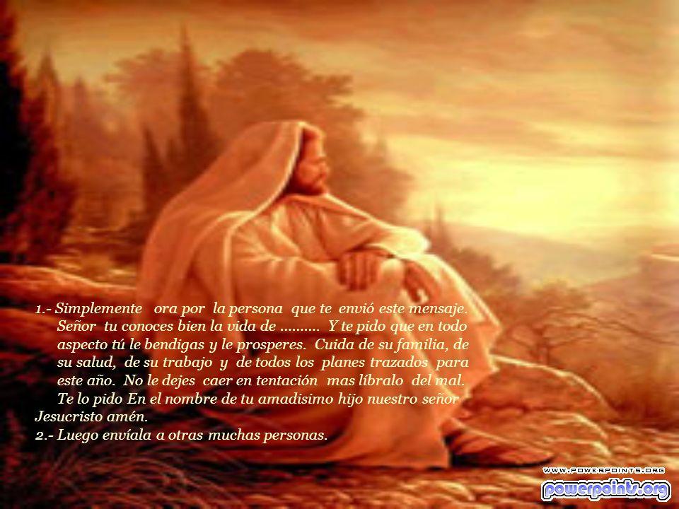 Acepta la realidad, la verdad de que… JESUS ES LA UNICA SALVACION PARA EL MUNDO. Dios tiene planes para ti. Enséñales a todos lo que El pasó, únicamen
