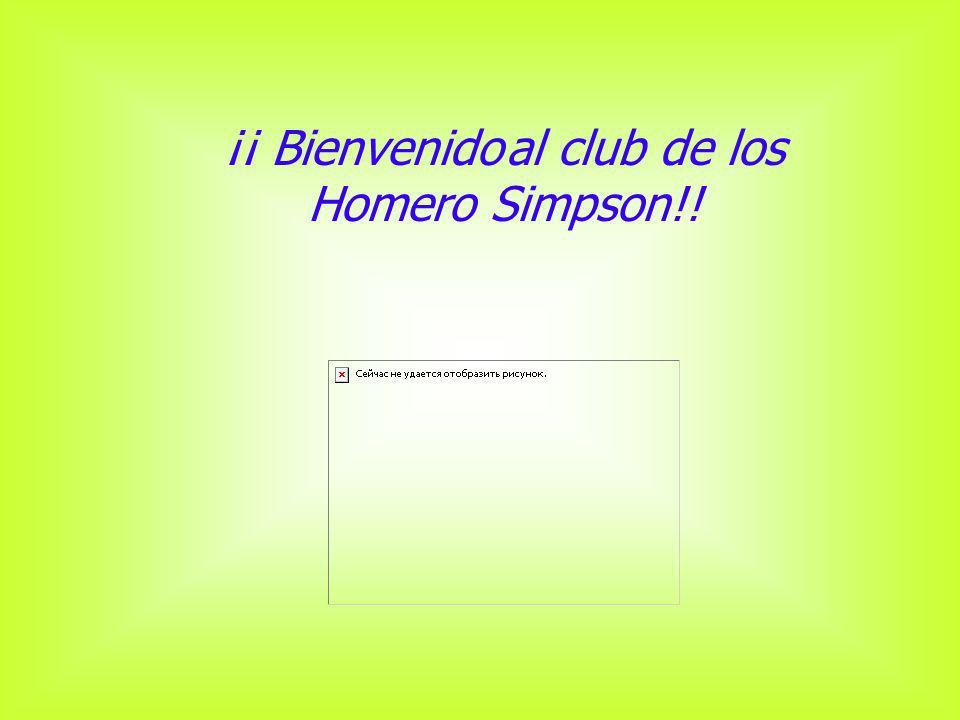 ¡¡ Bienvenido al club de los Homero Simpson!!