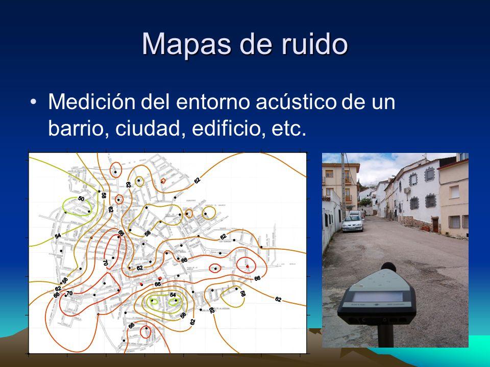 Mapas de ruido Medición del entorno acústico de un barrio, ciudad, edificio, etc.