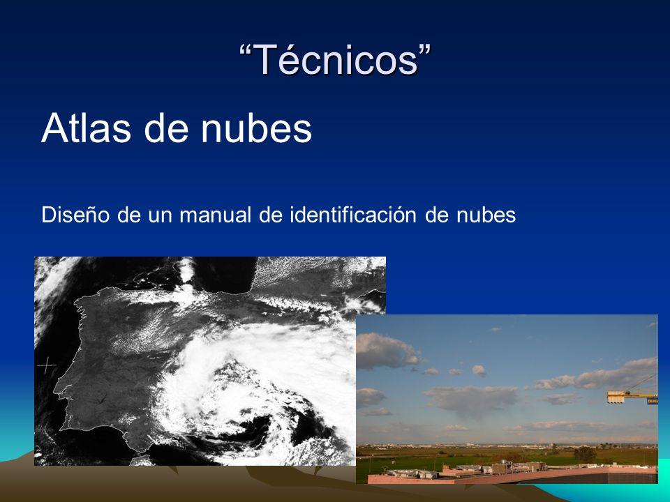 Técnicos Atlas de nubes Diseño de un manual de identificación de nubes