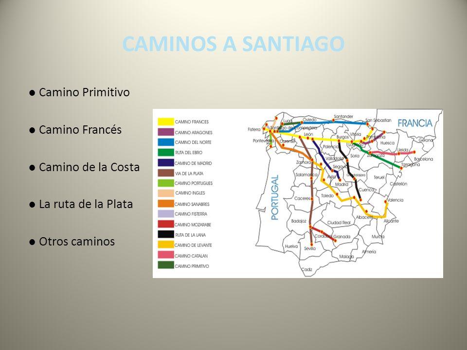 CAMINOS A SANTIAGO Camino Primitivo Camino Francés Camino de la Costa La ruta de la Plata Otros caminos