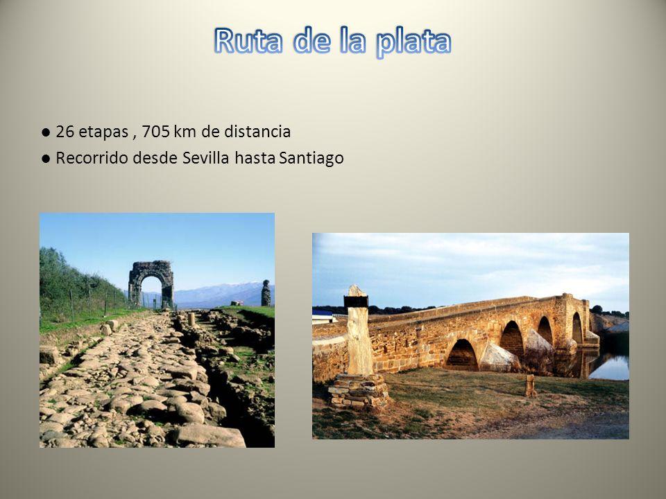 26 etapas, 705 km de distancia Recorrido desde Sevilla hasta Santiago