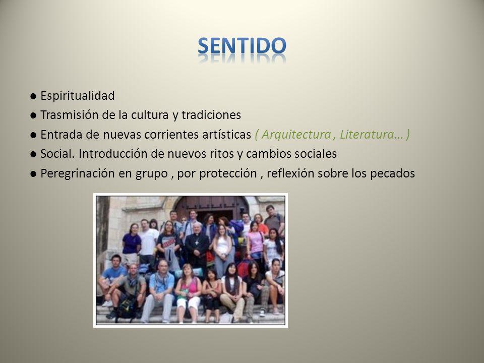 Espiritualidad Trasmisión de la cultura y tradiciones Entrada de nuevas corrientes artísticas ( Arquitectura, Literatura… ) Social. Introducción de nu