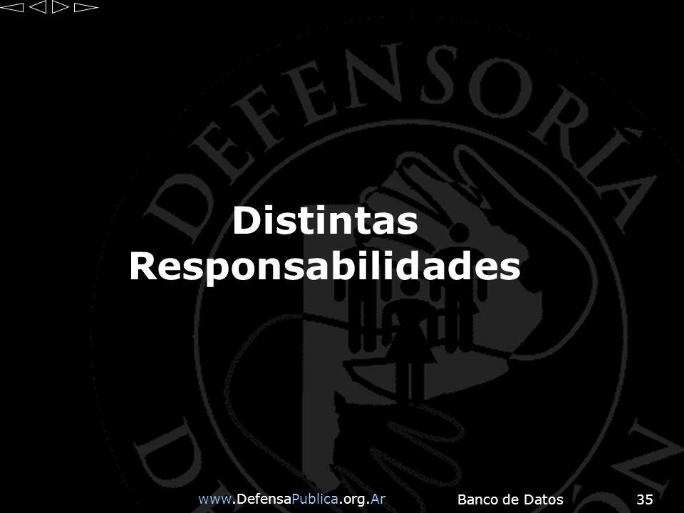 www.DefensaPublica.org.Ar Banco de Datos35 Distintas Responsabilidades