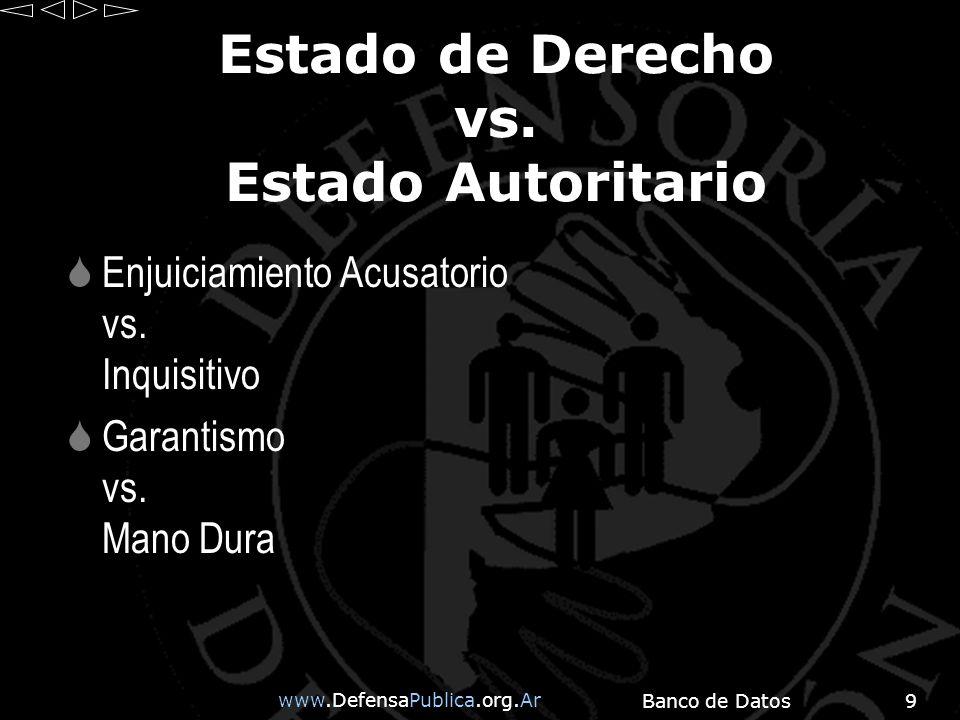www.DefensaPublica.org.Ar Banco de Datos9 Estado de Derecho vs.