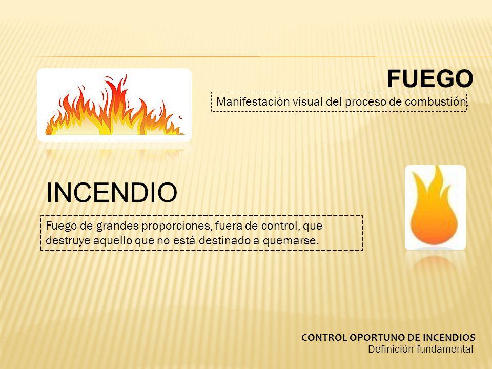 Definición fundamental Fuego de grandes proporciones, fuera de control, que destruye aquello que no está destinado a quemarse.
