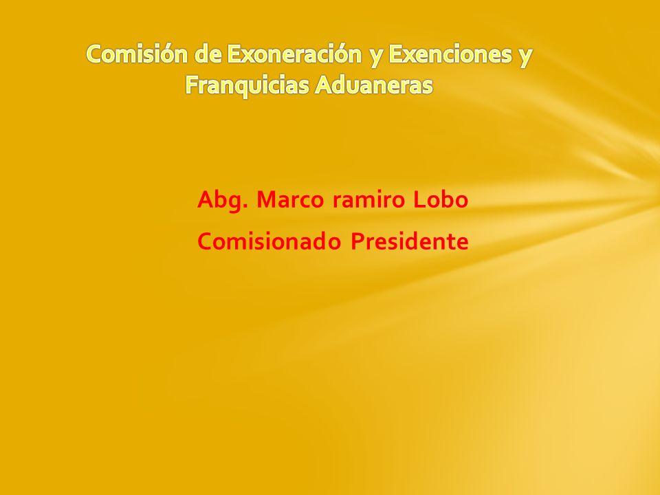Abg. Marco ramiro Lobo Comisionado Presidente