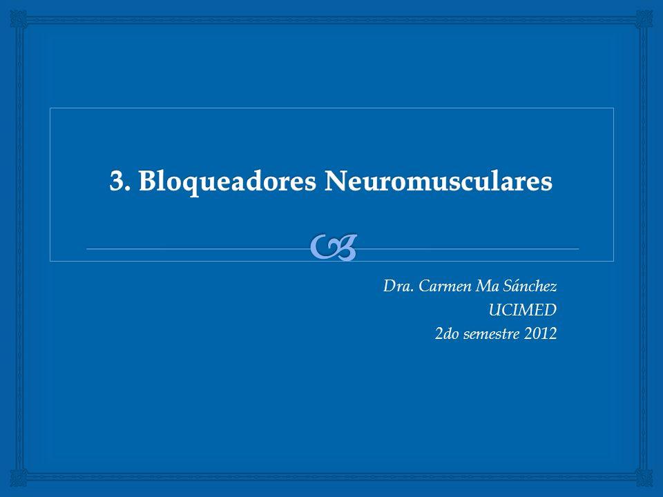 Dra. Carmen Ma Sánchez UCIMED 2do semestre 2012
