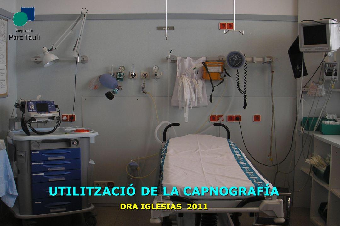 1 UTILITZACIÓ DE LA CAPNOGRAFÍA DRA IGLESIAS 2011