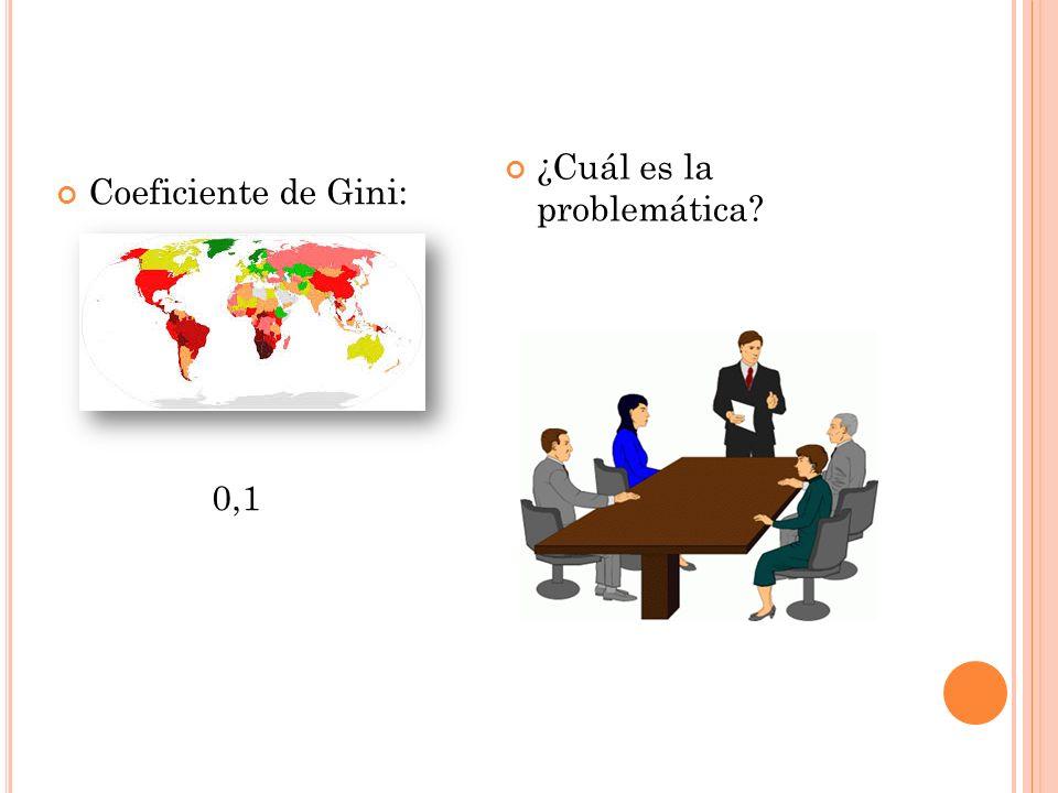 Coeficiente de Gini: 0,1 ¿Cuál es la problemática?