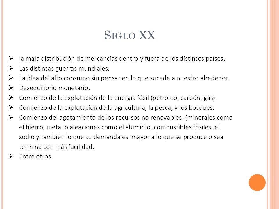 S IGLO XX