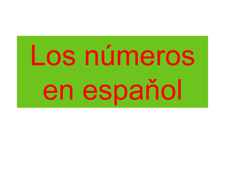 Los números en espaňol