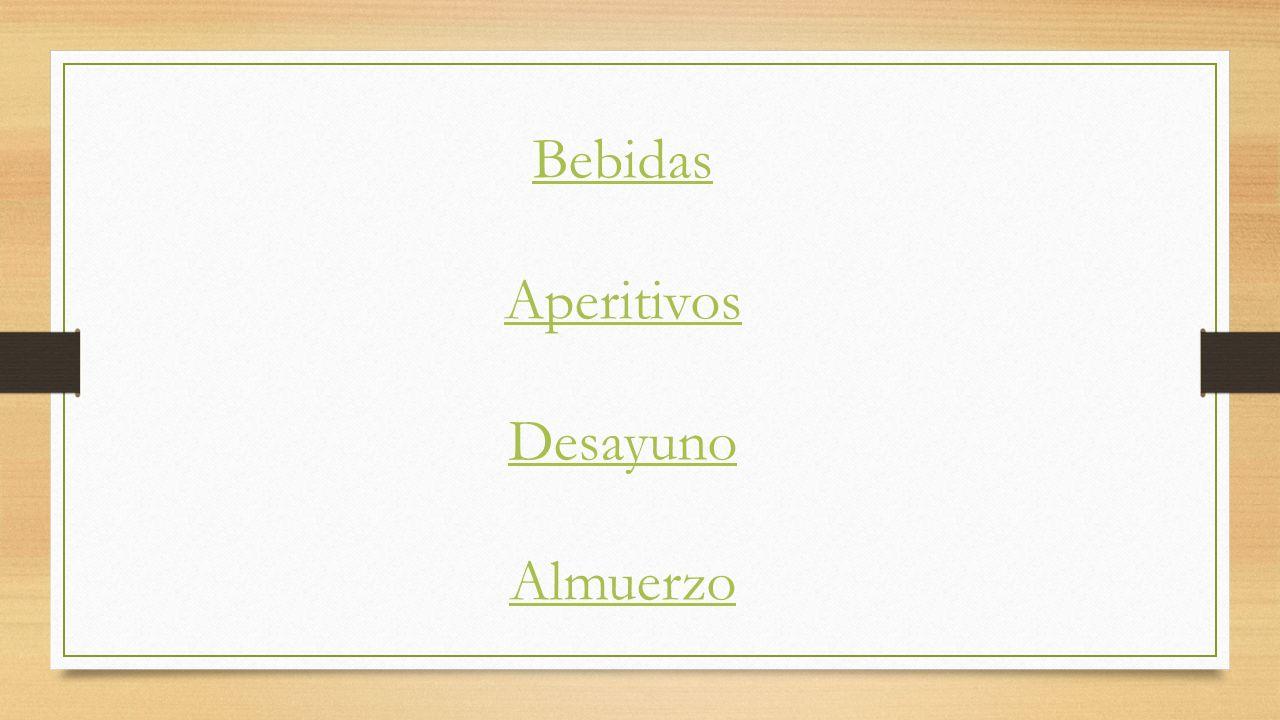Bebidas 1.00 US= 12.00 pesos mexicanos El Agua 0.00 La Leche 12.50 El Café 12.50 Los Jugos (manzana, uva y naranja) 22.50 Los Refrescos (Coke, Sprite y Dr.pepper) 12.50 La Limonada 12.50