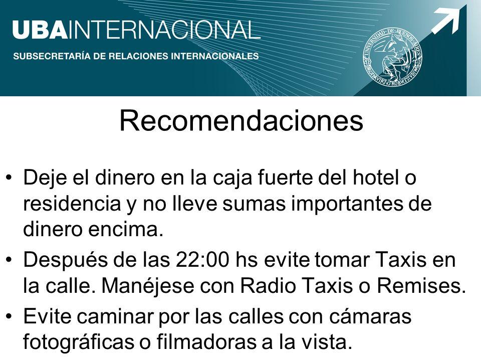 Información Turística Secretaría de Turismo de la Nación, Centros de Información Turística: Av.