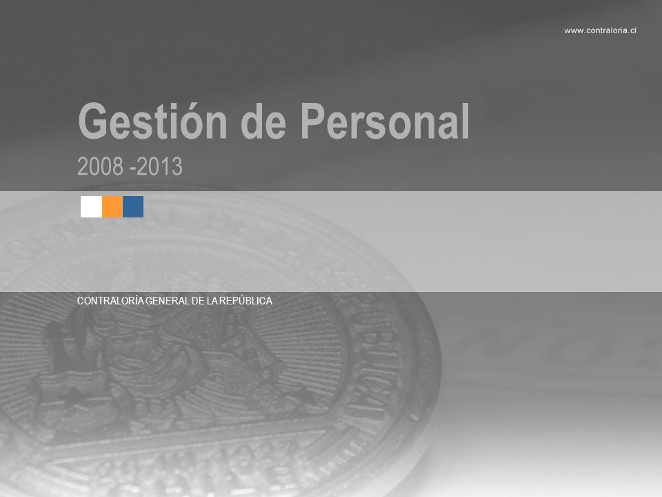 Gestión de Personal 2008 -2013 CONTRALORÍA GENERAL DE LA REPÚBLICA