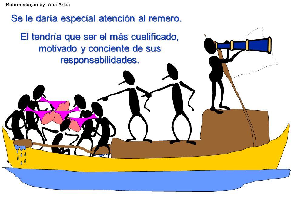 Reformatação by: Ana Arkia El equipo estaría ahora compuesto por cuatro capitanes, dos supervisores, un jefe de supervisores y un remero.
