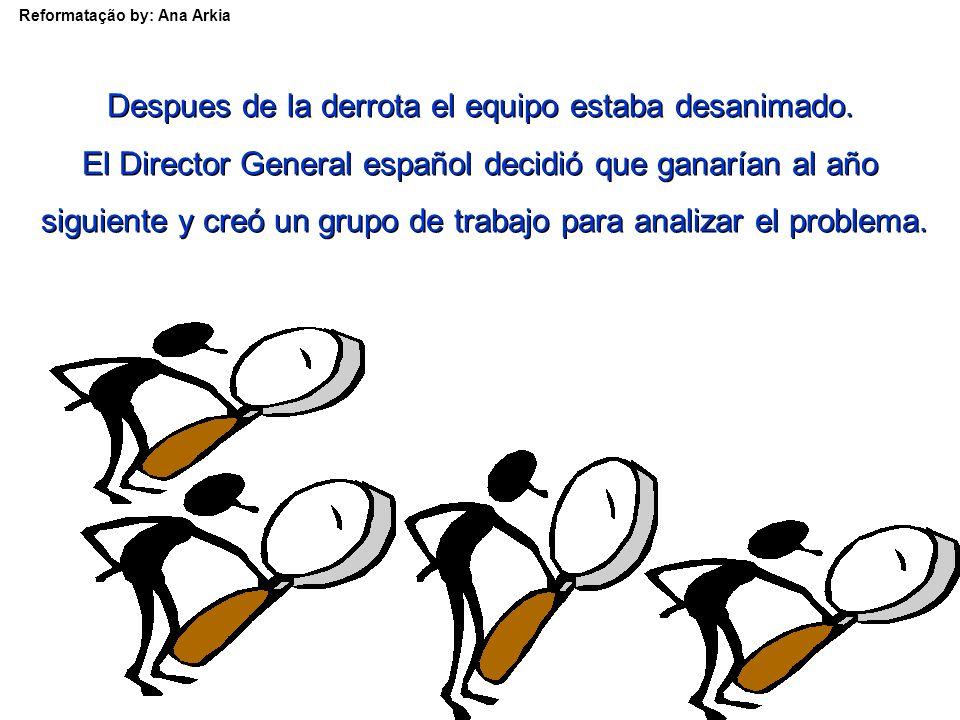 Reformatação by: Ana Arkia Y le dieron a los demás miembros del equipo un premio por la gran motivación que intentaron infundir en el equipo.