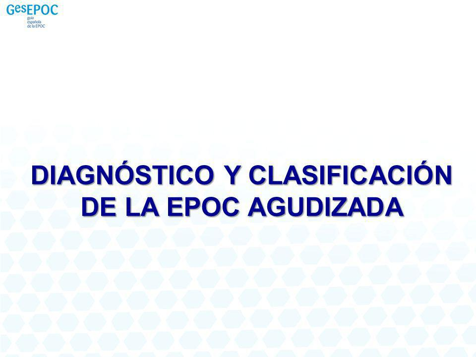 PASO 2 Caracterización del fenotipo EL PROCESO DIAGNÓSTICO 1 Las agudizaciones deberán haber sido tratadas con antibióticos y/o corticoides como mínimo y separarse al menos 4 semanas entre sí FenotipoenfisemaFenotipo bronquitis crónica Fenotipo mixto EPOC-asma Fenotipo agudizador ( 2 agudizaciones/año) 1 < 2 agudizaciones/año (No agudizador) (C)(D)(A) (B)